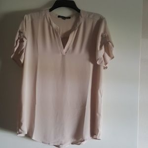 Sheer Nude Top Blouse Size Large NWOT